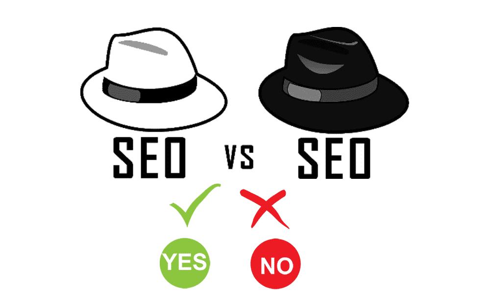 سيوالقبعة البيضاء White Hat SEO وسيو القبعة السوداء Black Hat SEO :