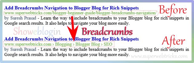 Blogger Breadcrumbs Navigation